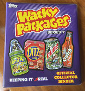 2010 Topps Wacky Packages Series 7 Purple Official Collector Binder Full Set Wow