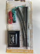 Bachmann 44861 N Left Hand Remote Turnout W/nickel Silver Ez Track With Gray
