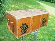 Vintage 1960and039s Childrenand039s Pirate Treasure Chest Wooden Toy Box Wood Trunk