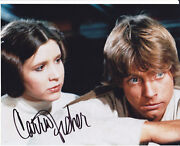 Star Wars Carrie Fisher Hand Signed Princess Leia Colour 10x8 Photo