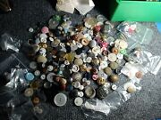 Lot Of 100+ Antique Vintage Buttons Mostly Metal Victorian Black Glass+