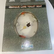 Antique Fishing Lures Toilet Seat Rivers Edge Products Clear Acrylic