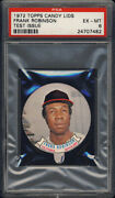 1972 Topps Candy Lids Test Issue Frank Robinson Psa 6 California Angels Hof