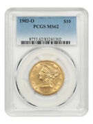 1903-o 10 Pcgs Ms62 - New Orleans Gold - Liberty Eagle - Gold Coin