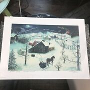 Christmas Visitors By Will Moses Serigraphs Printers Proof Signed By Artist