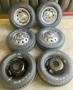 6 Ram 3500 Dually Only Drw 17 Factory Oem Polished Wheels Rims Tires 19-21