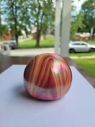 Signed Multicolor Gibson Art Glass Paperweight Great Color