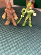 Imaginext Dc Super Friends Scarecrow And Poison Ivy Figure W/ Weapon Lot Of 2