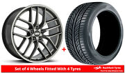 Alloy Wheels And Tyres Wider Rears 20 Bbs Cc-r Tesla Model S