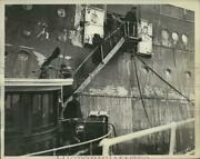 1933 Press Photo Ss Albert Ballin Arriving From Europe In Nyc - Ney20674