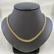 14k Yellow Gold And Co. Necklace Russian Weave 16