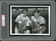 Mickey Mantle And Stan Musial 1953 Yankees W/bats Type 1 Original Photo Psa/dna