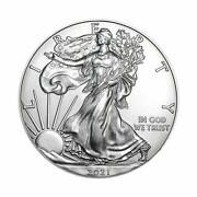 2021 American Silver Eagle .999 Fine Silver With Our Certificate Us Mint