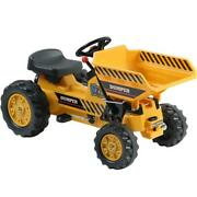 Kalee Kids Pedal Tractor With Dump Bucket Yellow Max Rider Weight 66 Lbs Kids 3+