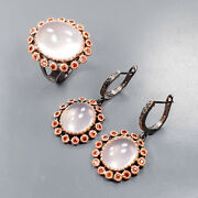 Discount Jewelry Set Rose Quartz Ring Silver 925 Sterling Size 9 /r168294