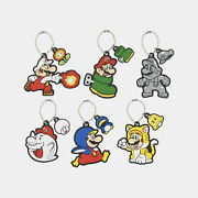 Nintendo Rubber Keychain Collection Super Mario Power-up Second Limited Japan