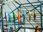 Lot Of 8 Rapala Minnow Spoons One Nip 5 Rms-7 +2 Rms-8 Hot Colors 7 Weedless
