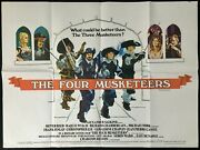 Four Musketeers Original Quad Movie Poster Oliver Reed Chantrell 1974