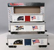 Lionel 6-19599 Old Glory Series Set Of 3 Boxcars Ex/box