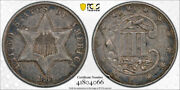1864 3cs Three Cent Silver Piece Pcgs Xf 40 Extra Fine Key Date Tough Coin
