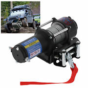 4000lb Electric Recovery Winch 12v Atv Towing Truck Trailer Remote Switch