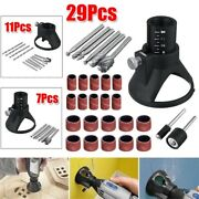 7/11/29pcs Rotary Multi-tool Cutting Guide Accessory Kit Hss Router Drill Bits