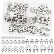 28pcs 1/8-3/8inch M3-m10 Wire Rope Cable Clip Clamp-5 Sizes 304 Stainless Ste...