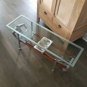 Antique Custom Made 1920and039s Rowing Machine Glass Top Coffee Table Vig-row Vguc