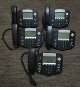 Lot Of 5 Polycom Soundpoint Ip 550 Phones 2201-12550-001 With Stands And Handset
