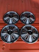 1964-1967 Ford Mustang Full Wheel Covers Hubcaps 14andrdquo For Stock Steel Wheels