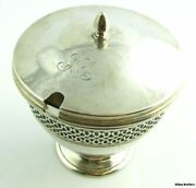 Authentic And Co. Vintage Jam Jelly Jar - 925 Sterling Silver 205g Antique