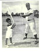 Jackie Robinson And Son C 1950and039s Type 1 Photo Psa / Dna Loa Stein Brooklyn Dodgers