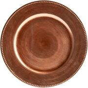 Rose Gold Round 13 Subtle Beaded Design Dinner Charger Plates Chargers