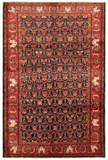 Vintage Hand-knotted Carpet 7and0394 X 10and0397 Traditional Oriental Wool Area Rug