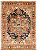 Traditional Hand-knotted Oriental Carpet 8and03911 X 12and0391 Area Rug In Dark Navy