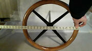 Antique Early 1900and039s Ford Model T 18 Wood Steering Wheel Shaft Hot Rod Rat Rod