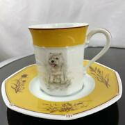 Hermes West Highland White Terrier Cup And Saucer Discontinued