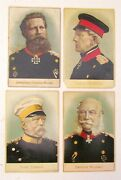 Lot Of 4 German Antique Victorian Trade Cards Royal And Military Portraits