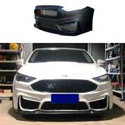 M Primer Black Front Bumper Bottom Protector For Ford Mondeo Fusion 2013-2020
