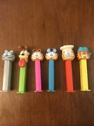 Lot Of 6 Garfield Pez Dispensers Mint Condition Including Odie And Nermal
