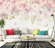 3d Flower Butterfly Zhu5419 Wallpaper Wall Mural Removable Self-adhesive Zoe