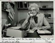 1984 Press Photo Agent Thelma Healing Works In Her Office At Easton Town Hall