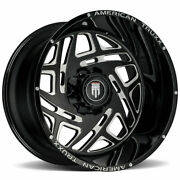 American Truxx At1904 Cosmos 24x14 8x170 -76 Black Milled Wheels4 125.2 24 In