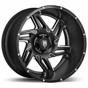 American Truxx At186 Spurs 22x12 8x170 -44 Black Milled Wheels4 125.2 22 Inch