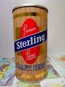 Sterling Draft Bank Pull Tab Empty Beer Can 127-17 Sterling Brg. Indiana
