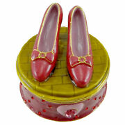 Dept 56 Bejeweled Boxes Ruby Slippers Jeweled Box Enamel Wizard Of Oz 97111
