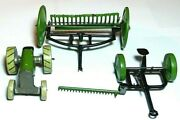 Rare Animate Toys Tin Penny Toy Set Haymaker Set Tractor Andmachinery/trailers Usa