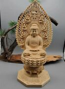 New Buddhist Crafts Total Cypress Wood Woodcarving Buddha Statue Extremely