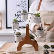 Youfui Ferris Wheel Plant Stand With 6 Pots. Perfect For Succulents