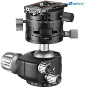 Leofoto Panoramic Geared Ball Head Lh-40 Gr With Qr Plate For Arca Swiss